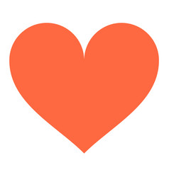Heart sign like icon favorite button vector