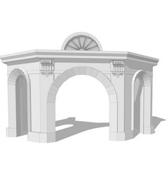 Architectural arch vector