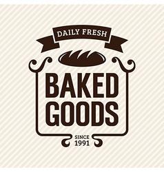 Baked goods vector