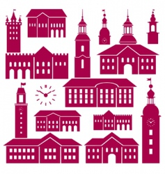 Old town elements vector