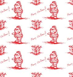 red seamless santa claus vector image