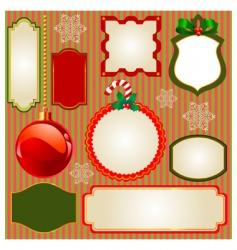 Set of christmas frames vector