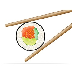 Sushi and chopsticks 02 vector