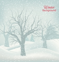Winter outdoor background vector
