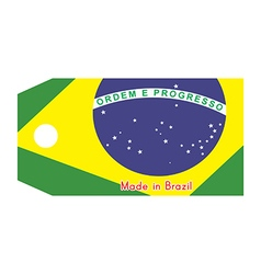 Brazil flag on price tag vector