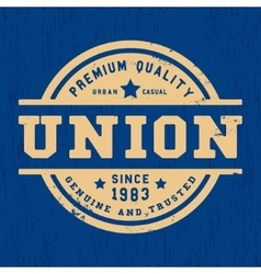 Union vintage stamp vector