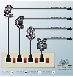 Money currency business infographic vector