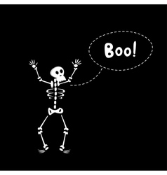 Funny Skeleton vector image