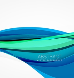abstract blue wave background design vector image vector image
