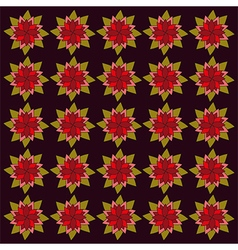 Burgundy red flowers on dark backdrop vector