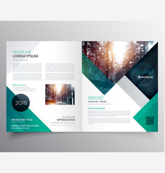 business bifold brochure or magazine cover design vector image