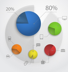 Color pie-chart diagram collection vector image vector image
