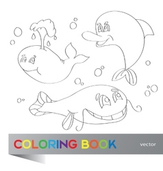 Coloring book - marine life vector image