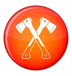 Crossed axes icon flat style vector image vector image