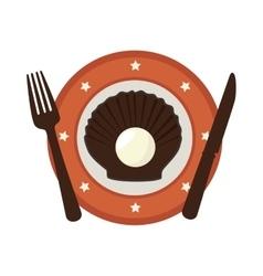Delicious seafood menu icon vector