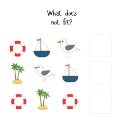 Educational game for children what does not fit vector image vector image