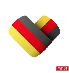 Flag icon in the form of heart i love germany vector