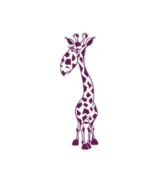 Funny-giraffe-for-kids big vector image