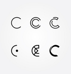 Initial letter c logo typo pack vector