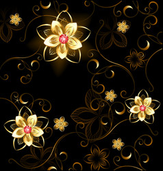 Jewelry pattern on a brown background vector
