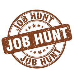 Job hunt brown grunge round vintage rubber stamp vector