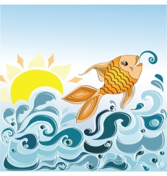 little fish vector image