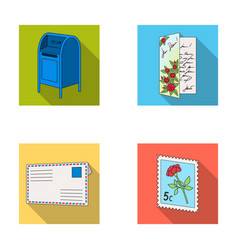 mailbox congratulatory card postage stamp vector image
