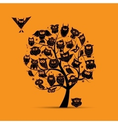 Owl tree for your design vector image