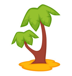 Palm tree icon isolated on vector