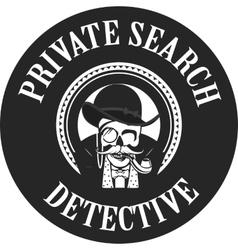 Private investigator skull vector