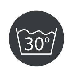 Round 30 degrees wash icon vector