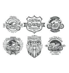 Set black vintage badges emblems with a vector