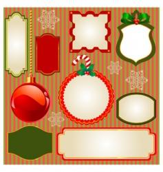 Set of christmas frames vector