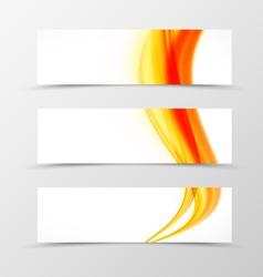 Set of header banner soft design vector image vector image