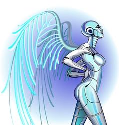 Sexy girl robot vector image