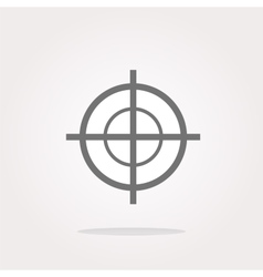 target icon isolated on white background vector image vector image