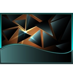 Triangles with lens flare vector image