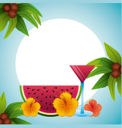 Tropical beach vacation image vector