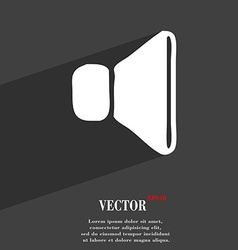 volume sound icon symbol Flat modern web design vector image