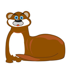 water animal otter vector image