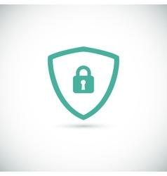 Web security icon shield vector