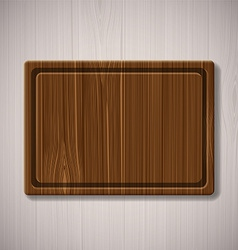 wooden board for cutting food vector image vector image