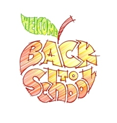 Back to school pencil lettering inscribed in the vector
