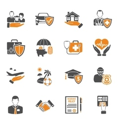 Insurance icons set vector