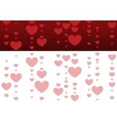 Decorative red and pink hearts vector