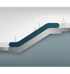 Escalator with place for advertising side view vector