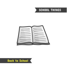 back to school supplies hand drawn icon vector image