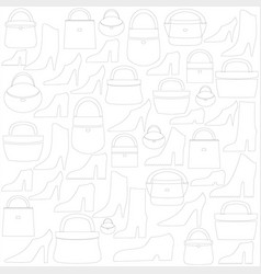Image of bags and shoes vector
