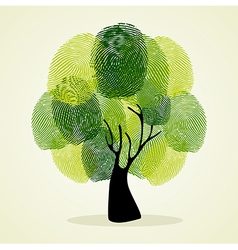 Finger prints tree concept vector