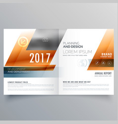 Business brochure design template with geometric vector